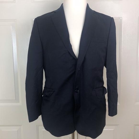 e1a36d57dd Ermenegildo Zegna Men's Blue Wool Blend Blazer